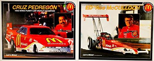(1993 - NHRA / Winston Drag Racing - 2 Hero Cards - Cruz Pedregon : McDonald's Funny Car / Ed