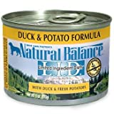 Natural Balance Limited Ingredient Diets Premium Duck & Potato Formula Canned Dog Food - Case of 12