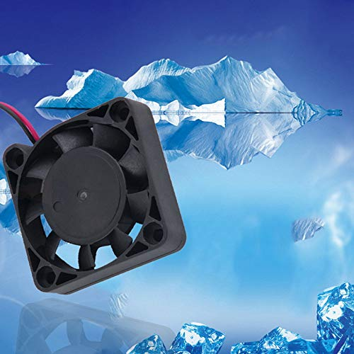 DC 12V 4CM 2 Pin 2 Lines 4500RPM Brushless VGA Graphics Card Plastic Cool Cooler Fan for Laptop PC Computer Case