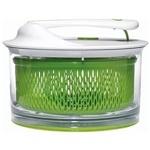 Chef'n 104-051-011 Salad Spinner Salatschleuder, weiß / grün