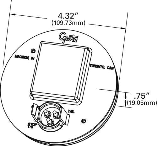 Grote 77353 Amber Strobe Flasher 4 Grommet Mount Truck Strobe Light