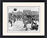 Framed Print of England v Scotland football match at the Oval, London