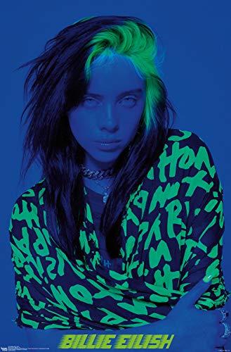 "Trends International Billie Eilish - Blue Wall Poster, 22.375"" x 34"", Unframed Version"