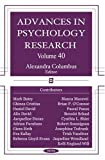 Advances in Psychology Research, , 1594548366