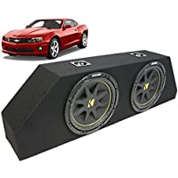 ASC Package Chevy 10-13 Camaro Dual 12 Kicker C12 Subwoofer Trunk Sub Box Enclosure 600 Watts Peak