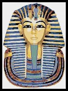 Kit de punto de cruz, diseño de Tutankamón Egipcio