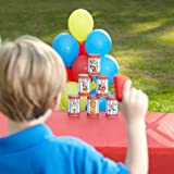 Plastic Carnival Can Bean Bag Toss Game (6 pc)