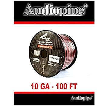 Amazon 500 ft 14 gauge red black stranded 2 conductor speaker 100 ft 10 gauge awg red black stranded 2 conductor speaker wire car home audio keyboard keysfo Images