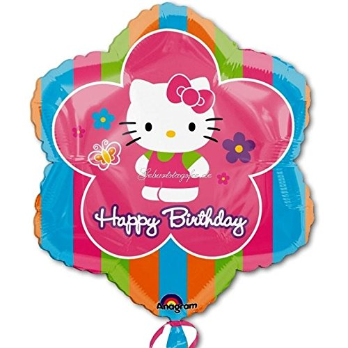 18 Inch Hello Kitty Flowers - Hello Kitty Flower 18in Balloon by Anagram