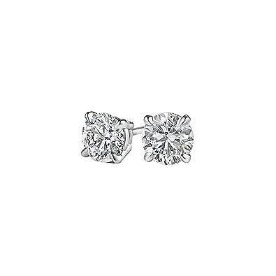 d3edb820 Amazon.com: Gift Priceless Natural Diamond Stud Earrings 14K Gold ...