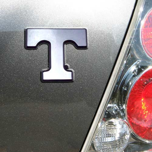 University of Tennessee Volunteers ''Power T'' Chrome Plated Premium Metal Car Truck Motorcycle Emblem by Elektroplate