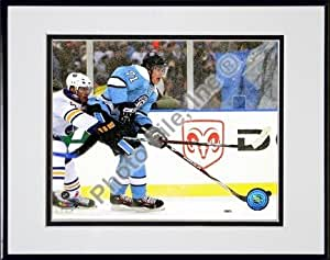 """Evgeni Malkin """"2007 Winter Classic"""" Double Matted 8"""" x 10"""" Photograph in Black Anodized Aluminum Frame"""