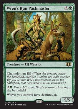 Magic: the Gathering - Wren's Run Packmaster - Commander 2014