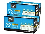Shabbat Candles - Traditional Shabbos Candles - 3 Hour - 72 Count, 2 Pack (144 Count) - by Ohr