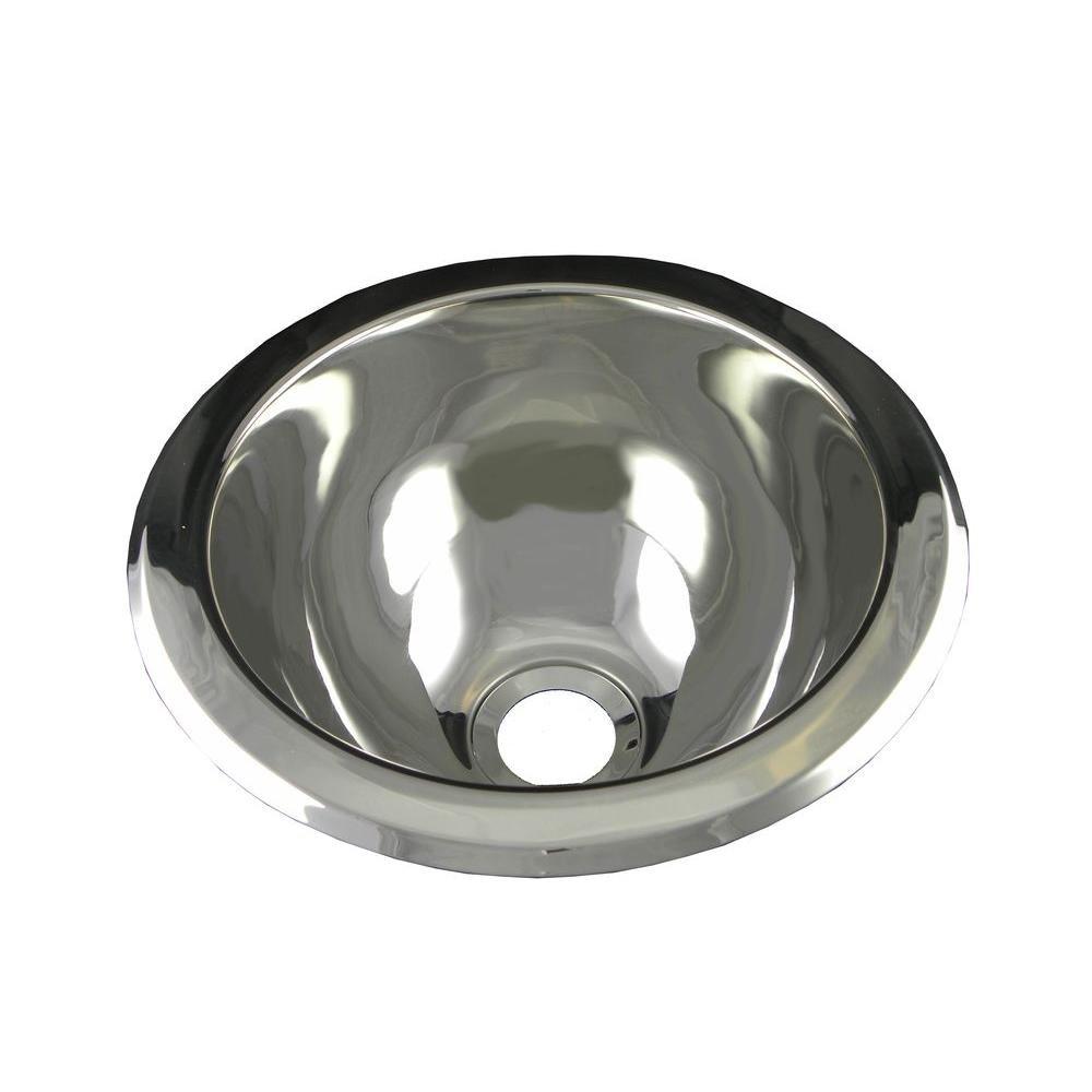 Opella Undercounter Bathroom Sink Polished Stainless - Small stainless steel bathroom sink