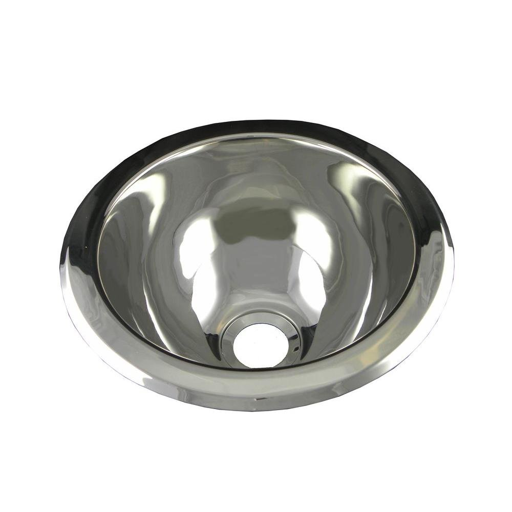 Opella 18085.045 Under Counter Bathroom Sink, Polished Stainless
