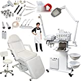 Facial Steamer With Magnifying Lamp For Sale - 13-in-1 Elite Series Multifunction Diamond Microdermabrasion Facial Machine Salon Spa Beauty Equipment (w/Electric Bed)