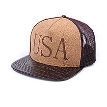 Sawdust Cork Cool Men Snapback Hats Caps Adjustable Flat Bill Baseball Caps