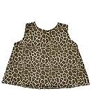 RuffleButts® Infant / Toddler Girls Open Back Print Swing Top - Giraffe Print - 6-12m