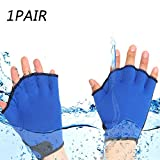 Aquatic Gloves for Helping Upper Body Resistance, Webbed Swim Gloves Well Stitching, No Fading, Sizes for Men Women Adult Children Aquatic Fitness Water Resistance Training