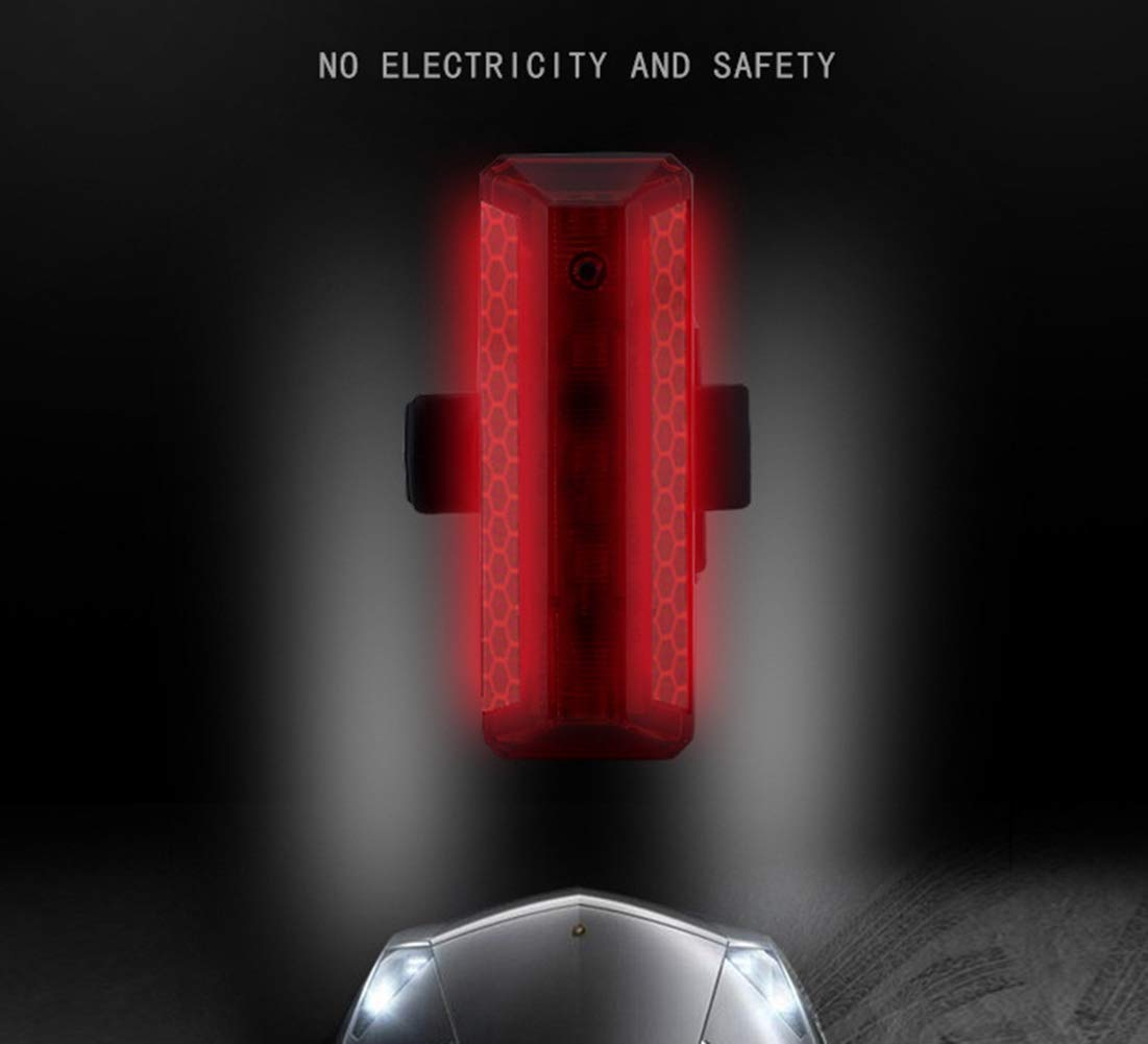 Fits On Any Road Mountain Bicycle USB Rechargeable Safety Taillight 5 Light Mode Options IPX4 Waterproof Easy to Install for Safety Cycling Kookea Style LED Bike Light Helmets