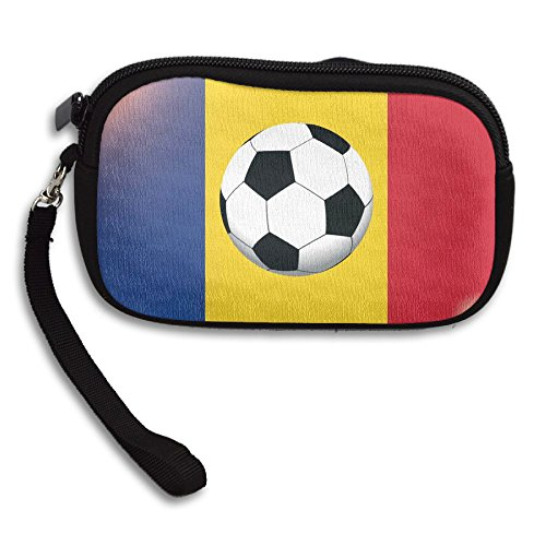 Flag Printing Small Bag Of On Receiving Purse Deluxe Black The Portable National Romania Football FAqtn