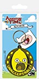 Adventure Time Keychain Keyring For Fans - Lemongrab Unacceptable (2 x 2 inches)