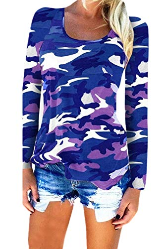 Mimetizzazione Le Slim Si Fit Massimo Magliette Donne al Camicia pi in Tshirts SxFft
