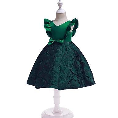 Amazon.com: Vestido de fiesta de cumpleaños para niñas de 1 ...