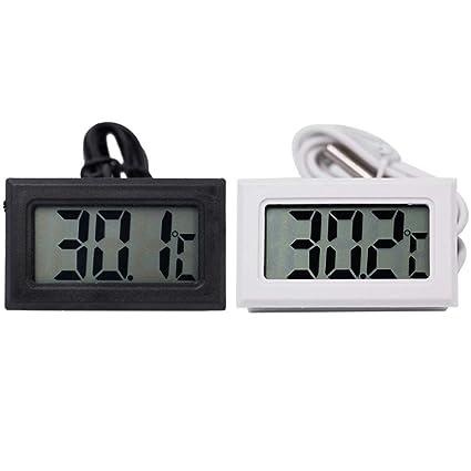 Termómetro digital LCD Medidor de temperatura Sonda de sensor ...