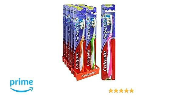 Cépillo de dientes Colgate Zig-Zag Medio - x 12: Amazon.es: Salud y cuidado personal