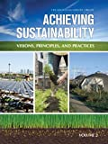 img - for Achieving Sustainability: Visions, Principles & Practices, 2 Volume set book / textbook / text book