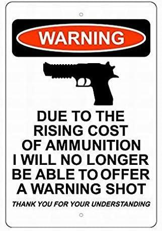 tin bar signs No shooting beyond this point tin metal sign US Seller