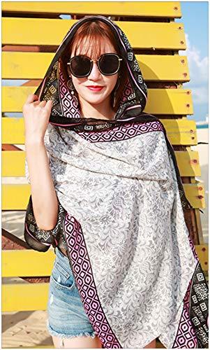 Fashion Women Scarf Joyous Large Soft Cozy Lightweight Sunscreen Shawl Wrap Scarf Pashmina Seaside Travel Beach Towel (Snowflake)