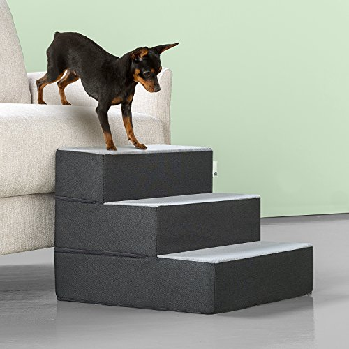 Zinus Easy Pet Stairs/Pet Ramp/Pet Ladder, Grey