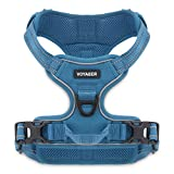 Voyager by Best Pet Supplies -Dual-Attachment No-Pull Adjustable Harness with 3M Reflective Technology, (Turquoise, Medium)