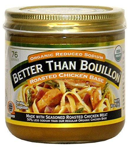 Better Than Bouillon Organic Roasted Chicken Base, Reduced Sodium - 3Pack (16 oz Each) Vmcsk