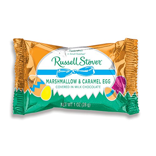 Russell Stover 1 oz. Milk Chocolate Marshmallow and Caramel Eggs, case of 36