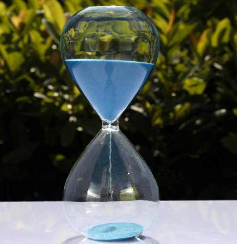 30/60 Minutes Colorful Sand Hourglass Sand Timer Creative Gifts Ornaments (Blue, 60min) by Sand timer Home Decoration