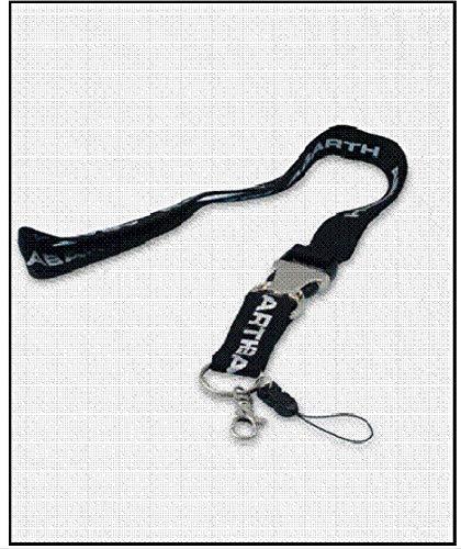FCA Llavero Key Holder Abarth Black cordón de Cuello con ...