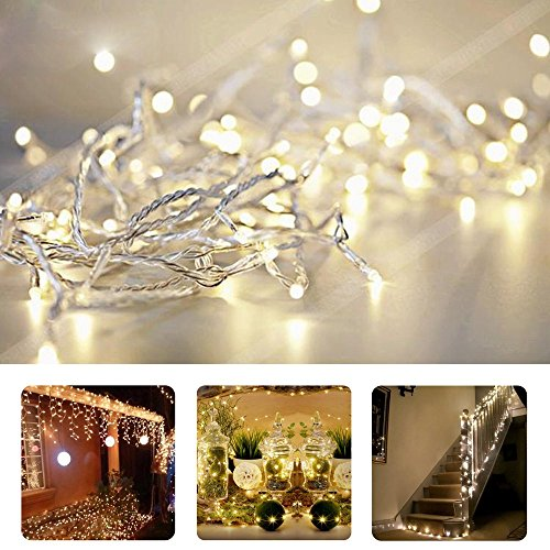 10M 100 Led String Fairy Lights In Warm White - 4