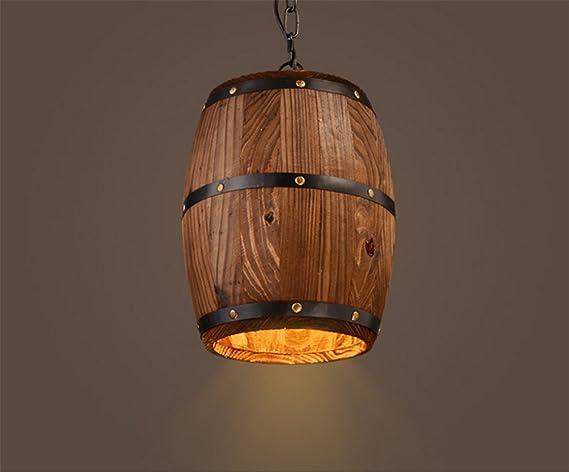 Retro creativo botte lampada a sospensione in stile industriale a
