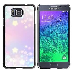 TopCaseStore / la caja del caucho duro de la cubierta de protección de la piel - Purple Blue Lights Blue - Samsung GALAXY ALPHA G850