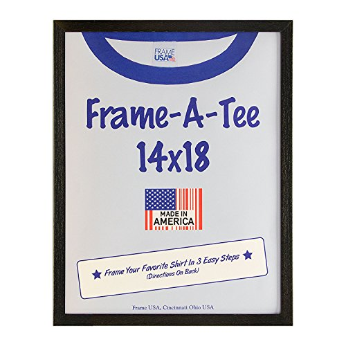 Frame America Wm29302 T-Shirt Frame with Standard Plexi Glass for Max Protection-Best Gift Idea (14x18, Black
