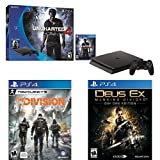 PlayStation 4 Slim 500GB Console - Uncharted 4 Bundle + The Division + Deus Ex: Mankind Divided