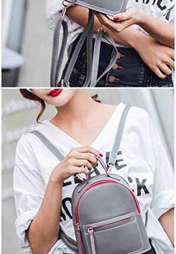 Femme Décontracté MSZYZ pour Bandoulière Sac gris Sac Mini à Mini Sac PU Sac Leisure Sac cHqWqPvY