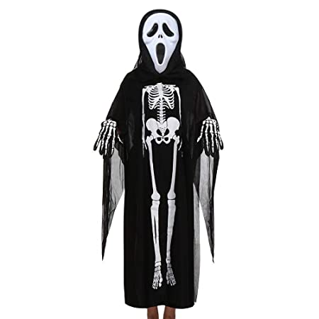 Oudan Halloween Mujeres Hombres Cosplay Disfraz máscara ...