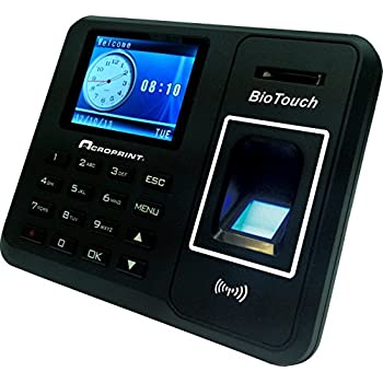 Acroprint BioTouch Self-Contained Automatic Biometric Fingerprint / Proximity Time Clock