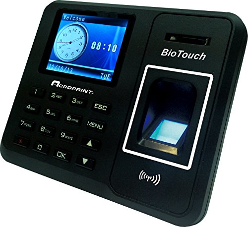 Acroprint BioTouch Self-Contained Automatic Biometric Fingerprint/Proximity Time Clock