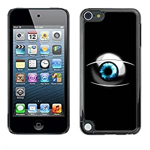 "For Apple iPod Touch 5 , S-type Sci Fi Blue Eye"" - Arte & diseño plástico duro Fundas Cover Cubre Hard Case Cover"